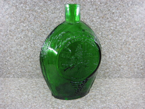 The Early American Society Green Glass Bottle Vase