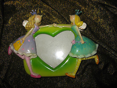 Fairy Friends - Heart Shaped Resin Picture Frame