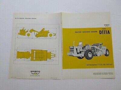 Rare Wabco D111a Tractor Elevating-scraper Sales Brochure 1968