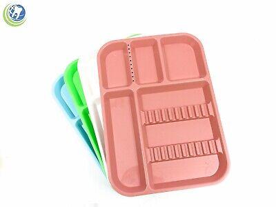 5x Dental Instrument Set Up Tray Size B Includes Bur Holder Section Choose Color
