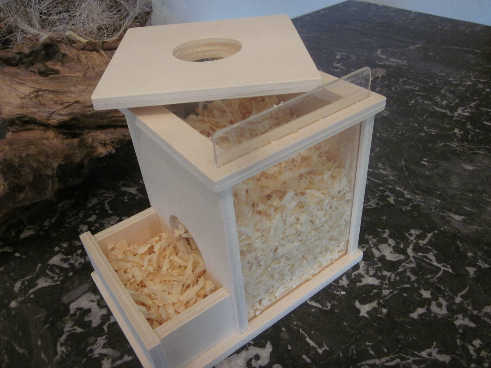 holz buddelturm f r rennm use m use hamster nager k fig mit sp ne eur 16 90 picclick de. Black Bedroom Furniture Sets. Home Design Ideas