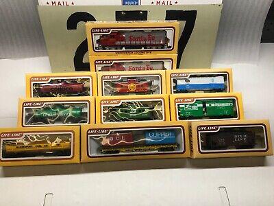 Life Like Ho Scale Santa Fe Train Set Cars and Engines Lot of 11