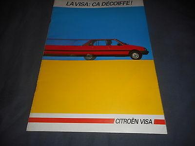 1985 Citroen Visa French Market Brochure Catalog Prospekt