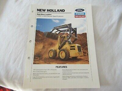 1990 Ford L-553 L-555 Skid-steer Brochure