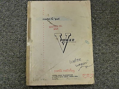 Letourneau Westinghouse Wabco Model C Pull Scraper Parts Catalog Manual Book