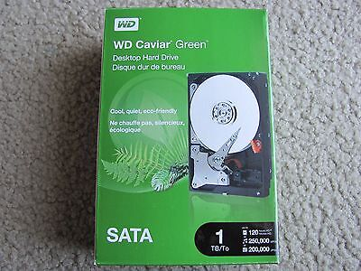 New Western Digital 1TB Caviar Green SATA Internal Hard Drive WDBAAY0010HNC-NRSN Caviar Sata Internal Hard Drive