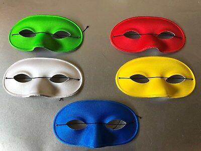Domino Stoff Augenmaske Rot Gelb Blau Weiss Grün Maske Karneval ()