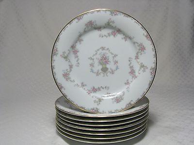 8 Noritake Windsor Dinner Plates 5924