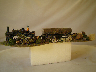 O scale/On30 Steam Tractor Logging Diorama - custom weathered diorama