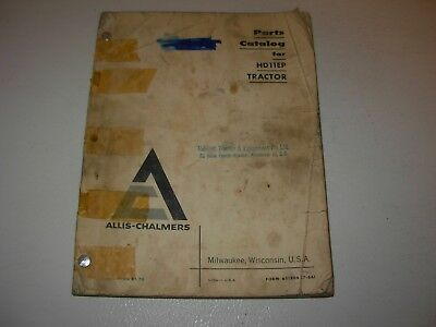 Allis Chalmers Hd11ep Tractor Parts Manual - Issued 1966