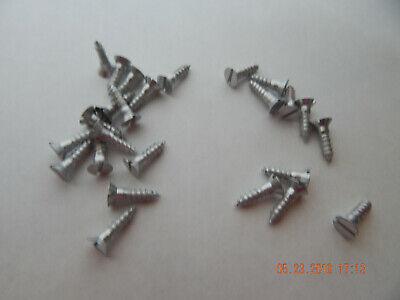 Aluminum Flat Head Slotted Wood Screws 10 X 34 24 Pcs. New