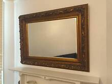 Large beveled wall mirror with ornate gilded frame Cammeray North Sydney Area Preview