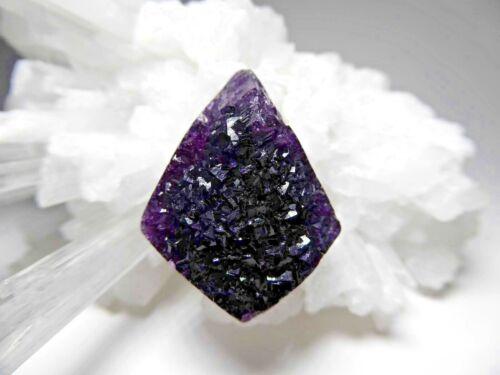 Purple Druzy Fluorite Gemstone Cabochon Drusy Crystal Pendant or Bead