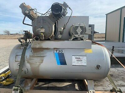 Ingersoll Rand T30 Air Compressor2 Stage15 Hp 3-phase 30t 71t2 Year 1984