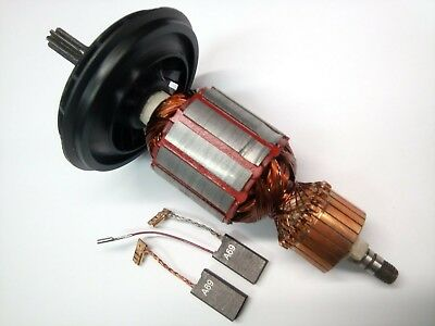 Bosch 5 (Motor Anker Rotor Läufer + Kohle f Bosch GBH 5-40 DE,GBH 5-40 DCE,GSH5E,GSH 5 CE)