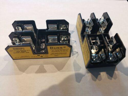 2 PCS - Cooper Bussmann BM6032PQ 2 Pole Fuse Holder 600 V 30 Amp BM6032 Buss