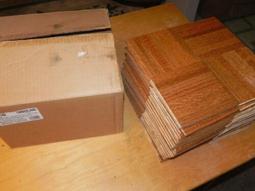114140 Parquet Hardwood Flooring Tile, Solid Oak, (25 sq ft) 7 finger Timberland