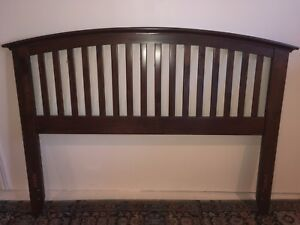 Solid Wood Bed Headboard and Railing