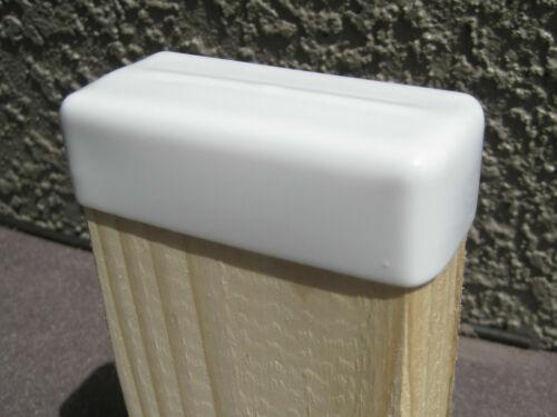 "2 PK: Vinyl End Cap For 2x4 Wood Post Stud Cover (1-1/2"" x 3-1/2"")White Rubber"