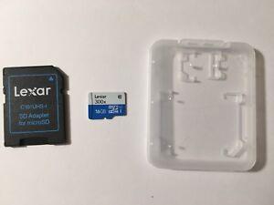 16 gb Lexar microSD card