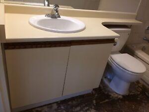 "36"" Bathroom Vanity with Countertop & Sink & Faucet"