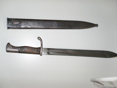 Original 98/05 Butcher Bayonet with scabbard WW1