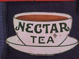 Vintage Nectar tea porcelain sign