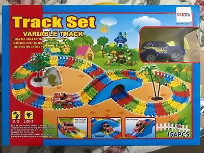 Variable Tracks Set 154 Pcs Mega Set Amazing Racing Car LED LIGHT Best