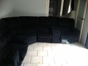 6-7 seater lounge suite (dark blue) Penrith Penrith Area Preview