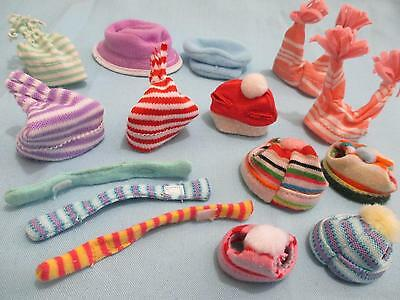 Littlest Pet Shop Lps Lot of 4 Random Hat Scarf Winter Snow Cloth Accessories