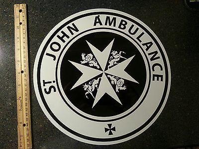 Doctor Who, SAINT JOHN , ALUMINUM sign,TARDIS  Dr. Who, St. John  AMBULANCE sign