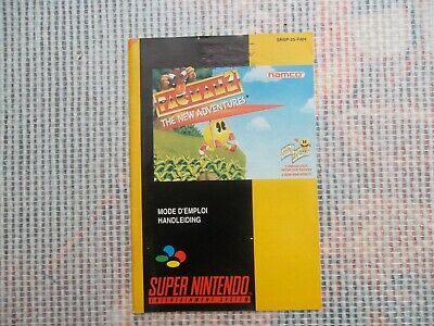 Notice Super nintendo / Snes mode d'emploi Pac Man 2 new adventure PAL Booklet*