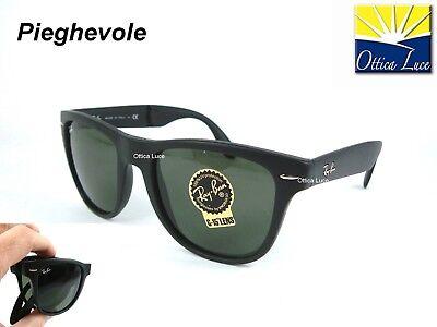 Ray Ban 4105 601s Plegable Wayfarer Tamaño 54 Plegable Negro Gafas de...