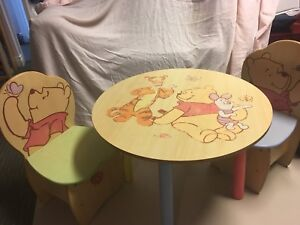 Winnie the Pooh child's table and chair set