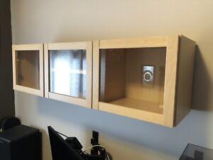 IKEA Olsbo display wall cabinet