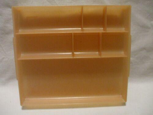 Vintage TUPPERWARE Flesh Jewelry Cosmetic Storage Acrylic Organizer # 407-2