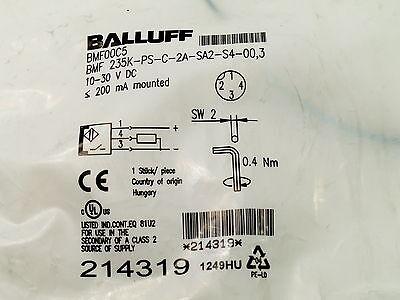 Balluff Bmf-00c5 Nib Bmf 235k-ps-c-2a-sa2-s4-00.3 Bmf Magnetic Field Sensors