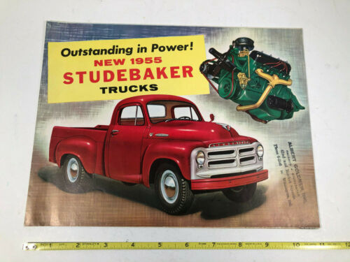 1955 Studebaker Truck Original Sales Brochure Foldout Poster