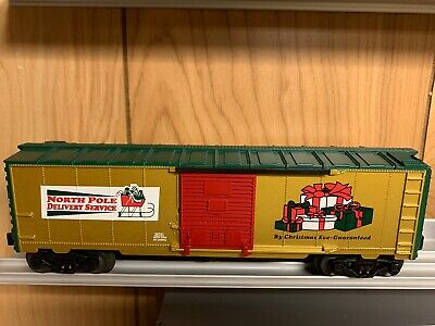 ✅LIONEL CHRISTMAS NORTH POLE DELIVERY BOX CAR 6-26741! SANTA TRAIN SET O GAUGE