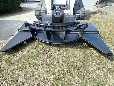 Vail 85 High Flow Brush Mower Attachment For Skid Steer Loaders Quick Attach