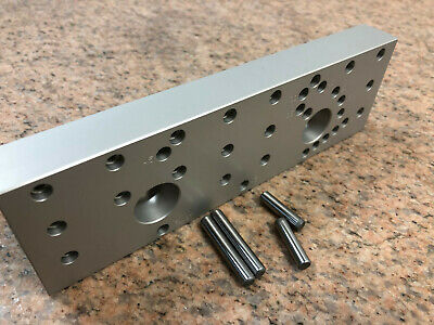 Kurt Style Custom Vise Jaw 8 X 2.5 Wangle Positioning Pins