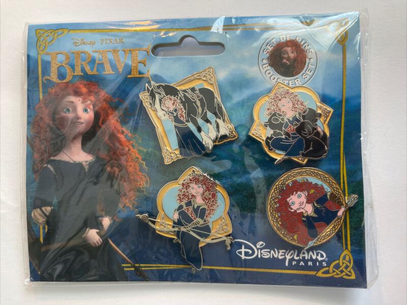 Brave Booster Set Merida Disney Paris Dlrp Dlp 2012 Pin Set (B)