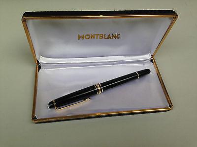 VINTAGE MONTBLANC PIX BLACK FOUNTAIN PEN GOLD 14K 585 NIB + ORIGINAL CASE