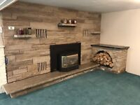 Spacious Bachelor with fireplace and shared deck. Avail - Sep 1