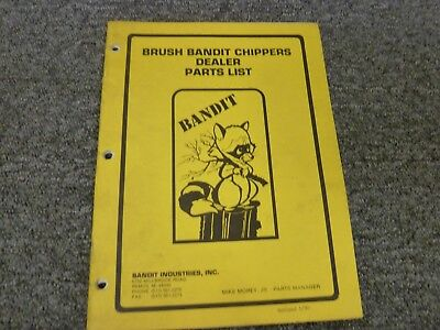 Brush Bandit 86 90 100 200 1200 Mighty Bandit Chipper Parts Catalog Manual