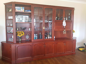 Timber sideboard x 2 & 1 with display shelves and bar cabinet Yarrawonga Moira Area Preview