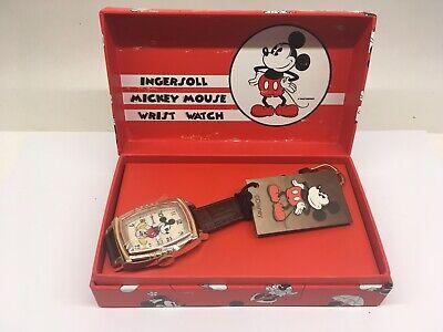 Ingersoll Mickey Mouse 30s Wrist Watch Watch Mechanical Disney New In Box