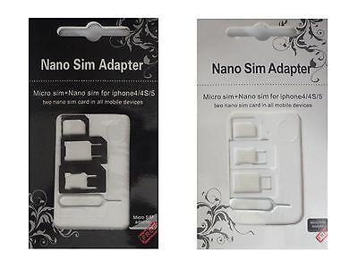 UNIVERSAL Sim Karten Adapter Nano Micro Nadel iPhone HTC SAMSUNG LG Huawei Z12