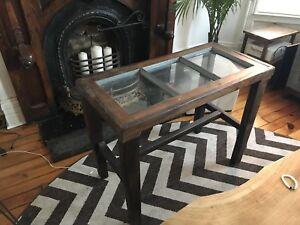 Beautiful Barnwood Window Side Table
