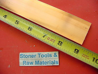 2 Pieces 14x 1-12 C110 Copper Bar 9 Long Solid Flat Mill Bus Bar Stock H02